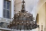 Merseburg, Dom, Vorhalle, Kronleuchter aus Chor (1. Dr. 16. Jh.)
