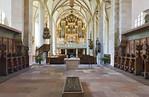 Merseburg, Domchor mit Grabplatte Rudolf von Schwaben