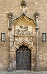 Merseburg, Schlosshof, Nordportal des Doms, mit schlafendem Jakob (1503)