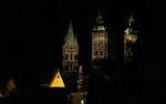 Türme des Naumburger Doms von Osten von Osten in der Nacht