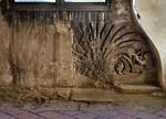 Naumburg, Ägidienkurie: Relief unter Fenster