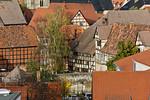 Quedlinburg: Blick auf Stadt vom Schlossberg