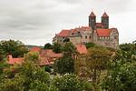 Quedlinburg: Blick auf Schlossberg mit St. Servatii vom Münzenberg