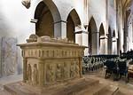 Kloster Schulpforta, Kirche. Alabastertumba Georg von Meißens (1401) im Westen