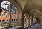 Kloster Schulpforta, Kreuzgang. Blick auf Westflügel und Kirche