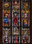 Stendal, Jacobikirche, Chorfenster nIII: Stifter (unten, 1370) und Apostel (1390)
