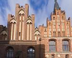 Stendal, Rathaus, Giebel des Laubenflügels von Süden (2.H. 14.Jh.)