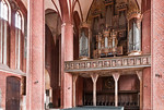Stendal, Marienkirche, Blick nach Osten auf Orgelempore