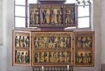 Stendal, St. Petri, 2 Schnitzretabel unterschiedlicher Herkunft