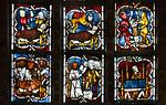 Stendal, Jacobikirche, Chorfenster sIV, z10-11: armer Lazarus und der Prasser