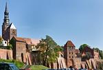 Tangermünde, Stephanskirche und Elbtor von der Tangerseite