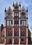 Tangermünde, Altes Rathaus, Schaufassade (1430, Hinrich Brunsberg)