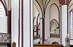 Tangermünde, Stephanskirche, Blick durch Vierung in nördl. Querarm