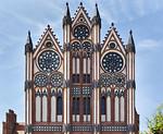 Tangermünde, Altes Rathaus, Schaufassade, Detail