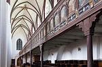 Tangermünde, Stephanskirche, Blick durch nördl. Seitenschiff mit Empore (1617)