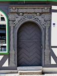 Tangermünde, Haus Kirchstraße 59 (1679), Tür mit orig. Türblatt
