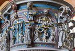 Werben, Johanniskirche, Kanzel,  Brüstung des Kanzelkorbs (Michael Spies, 1602)