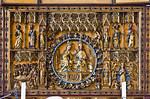 Werben, Johanniskirche, Mittelschrein des Hochaltars mit Marienkrönung