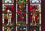 Werben, Johanniskirche, Chorfenster, sII, Schöpfungsgeschichte