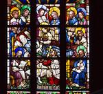 Werben, Johanniskirche, Chorfenster nII, Marientod (1467)