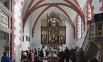 St. Niklas, Ehrenfriedersdorf, Chor mit Altar von 1512 (Festtagsseite von Meister H.W.)