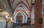 St. Niklas, Ehrenfriedersdorf, Blick in Chor mit Altar von 1512 (2. Wandlung)