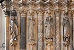 Freiberg, Dom. Goldene Pforte, linkes Gewände: Daniel, Kg. v. Saba, Salomo, Joh. d. Täufer