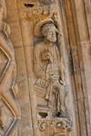 Freiberg, Dom. Goldene Pforte, Apostel Petrus