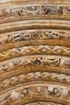 Freiberg, Dom. Goldene Pforte, Scheitel der Archivolten