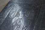 Meißen, Dom. Fürstenkapelle: Grabplatte der Herzogin Zedena (gest. 1510)