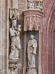 Meißen, Dom. Fürstenkapelle, Maria und Johannes Evgl. vom Westportal