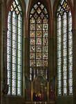 Meißen, Dom. 3 Ostfenster (um 1260) und Retabel (um 1490)