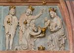 Meißen, Dom. Fürstenkapelle: Tympanon des Westportals, Anbetung