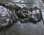 Meißen, Dom. Fürstenkapelle: Bronzetumba Friedrich des Streitbaren, Detail (gest. 1428)