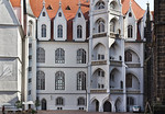 Meißen, Albrechtsburg. Fassade von Westen (Arnold von Westfalen, 1471-85)