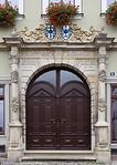 Pirna, Volkamerhaus Am Markt 9, frühbarockes Portal