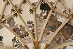 Pirna, St. Marien, 1. Pfeiler Süd: Abels Opfer, Jonas vom Fisch ausgespien und verschlungen, Sintflut