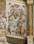 Pirna, St. Marien, Altarretabel von Michael und David Schwenke (1614), Jonas mit dem Walfisch