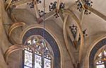 Pirna, St. Marien, Hobelspan und Schleifenrippe im SO-Chorgewölbe