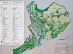 Muskau, Parkplan auf deutscher Seite