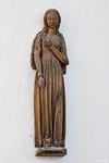 """Torgau, Marienkirche, """"Nonne"""", Maria der Verkündigung (Ende 14. Jhdt.), ursprgl. an Hauswand"""