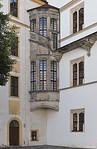 Torgau, Schloss Hartenfels, Innenhof, Kleiner Wendelstein im Südosten