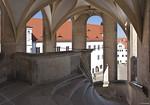 Torgau, Schloss Hartenfels, Innenhof, Großer Wendelstein