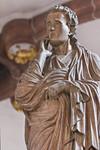 Wechselburg, ehem. Augustinerchorherrenstift. Kreuzigungsgruppe, Johannes d.T., Detail