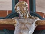 Wechselburg, ehem. Augustinerchorherrenstift. Kreuzigungsgruppe, Christus, Detail