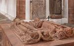 Wechselburg, ehem. Augustinerchorherrenstift. Stiftergrabmal Dedo und Mechthild von Groitzsch (1.Dr. 13. Jhdt)