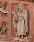 Wechselburg, ehem. Augustinerchorherrenstift. Lettner, Kanzelziborium: Johannes der Täufer