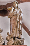 Wechselburg, ehem. Augustinerchorherrenstift. Kreuzigungsgruppe, Johannes der Täufer