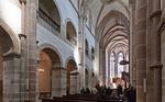 Arnstadt, Liebfrauenkirche, Blick vom Langhaus zum Chor