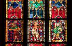 Erfurt, Augustinerkirche, mittl. Fenster in Ostwand, u.a. Passion (1310)